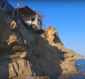 Αυτό το σπίτι στη Νότια Κρήτη θα σας κόψει την ανάσα- Κρέμεται πάνω από τον βράχο! (ΒΙΝΤΕΟ) - Κυρίως Φωτογραφία - Gallery - Video
