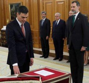 """Πέδρο Σάντσεθ: Ορκίστηκε ο νέος Πρωθυπουργός της Ισπανίας- Το Who is who του 46χρονου """"ωραίου"""" πολιτικού (ΒΙΝΤΕΟ) - Κυρίως Φωτογραφία - Gallery - Video"""