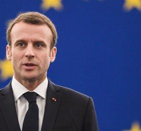 Εμανουέλ Μακρόν: «Η Γαλλία κι η Ευρώπη είναι αλληλέγγυες στην Ελλάδα» - Το μήνυμά του στα Ελληνικά (Φωτό) - Κυρίως Φωτογραφία - Gallery - Video