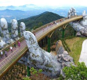 Βιετνάμ: Δύο χέρια «υψώνουν» μια γέφυρα στον ουρανό - Χιλιάδες συρρέουν για να τη θαυμάσουν (Φωτό & Βίντεο) - Κυρίως Φωτογραφία - Gallery - Video