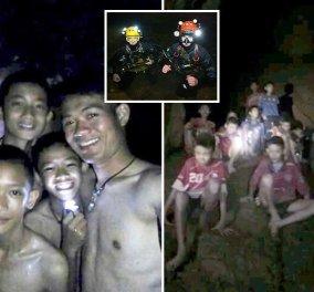 Βίντεο: H συγκλονιστική στιγμή που οι διασώστες βρίσκουν ζωντανά τα 12 παιδιά στο σπήλαιο στην Ταϊλάνδη - Κυρίως Φωτογραφία - Gallery - Video