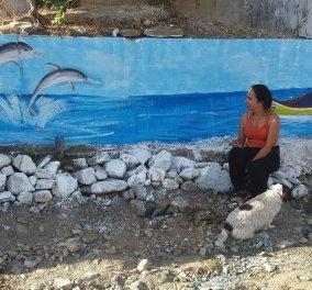 Top Woman η  Βούλα Λαδουκάκη στην Κρήτη: Ζωγραφίζει τα εγκαταλελειμμένα σπίτια - μεταμορφώνει τα χωριά (φωτο) - Κυρίως Φωτογραφία - Gallery - Video