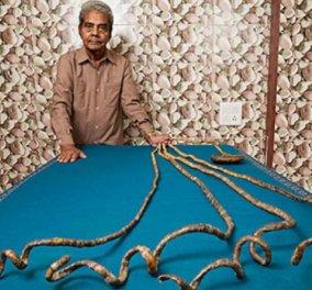 Ο 82χρονος με το ρεκόρ για τα μακρύτερα νύχια του κόσμου, τα έκοψε! Ύστερα από 68 χρόνια με τροχό! Δεν κοιμόταν πια... (Φωτό & Βίντεο) - Κυρίως Φωτογραφία - Gallery - Video