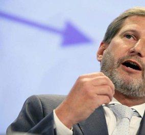 Ο Ευρωπαίος Επίτροπος Χαν προαναγγέλλει αλλαγή συνόρων με την Αλβανία  - Κυρίως Φωτογραφία - Gallery - Video