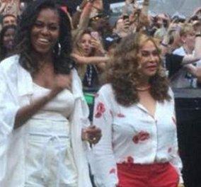Η Μισέλ Ομπάμα χορεύει με καυτό σορτς στη συναυλία της Μπιγιονσέ! Παρέα η μαμά της τραγουδίστριας (Φωτό & Βίντεο) - Κυρίως Φωτογραφία - Gallery - Video