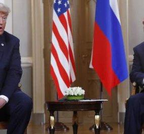 Δύο ώρες κράτησε η κατ'ιδίαν συνάντηση Τραμπ-Πούτιν: Μια καλή αρχή, είπε ο Αμερικανός (Φωτό) - Κυρίως Φωτογραφία - Gallery - Video