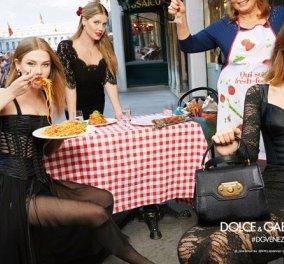 Έχετε δει τις κούκλες του Dolce & Gabanna να καταβροχθίζουν σπαγγέτι στην πλατεία του Αγίου Μάρκου στην Βενετία; (Φωτό) - Κυρίως Φωτογραφία - Gallery - Video