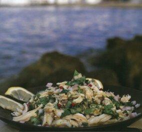Λαχταριστό σαλατούρι (ψαροσαλάτα με σαλάχι) από την Αργυρώ Μπαρμπαρίγου - Κυρίως Φωτογραφία - Gallery - Video