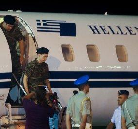 Στην Ελλάδα οι δύο στρατιωτικοί - Δείτε φωτογραφίες και βίντεο από τον επαναπατρισμό τους (Φωτό & Βίντεο) - Κυρίως Φωτογραφία - Gallery - Video