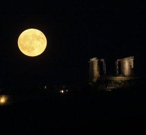 Το φεγγάρι πάνωθέ μου χθες ήταν ασημένιο τάλιρο - Η τελευταία Πανσέληνος του καλοκαιριού μάγεψε (Φωτό) - Κυρίως Φωτογραφία - Gallery - Video