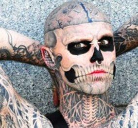 Νεκρός στα 32 του ο «Zombie Boy» - Τατουάζ σε όλο το σώμα, έμοιαζε με σκελετό - Τι έγραψε η φίλη του Lady Gaga (Βίντεο) - Κυρίως Φωτογραφία - Gallery - Video