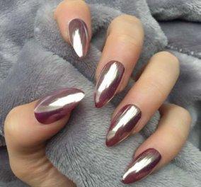 Mirror nails:  45 απίθανες ιδέες για υπέροχο μανικιούρ με μεταλλικά νύχια (ΦΩΤΟ) - Κυρίως Φωτογραφία - Gallery - Video