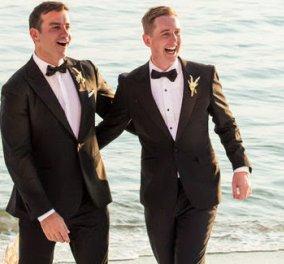 Ο πρώτος γκέι γάμος στο Βόλο έκλεισε με ένα δυνατό φιλί στο στόμα μπροστά στην πολυώροφη τούρτα  - Κυρίως Φωτογραφία - Gallery - Video