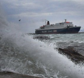 Προβλήματα στις ακτοπλοϊκές συγκοινωνίες- Απαγορεύση απόπλου - Σε ποιες περιοχές είναι δεμένα τα πλοία - Κυρίως Φωτογραφία - Gallery - Video