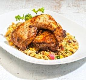 Κοτόπουλο στο φούρνο γεμιστό με κους κους από την Αργυρώ Μπαρμπαρίγου - Κυρίως Φωτογραφία - Gallery - Video