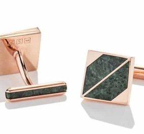 Made in Greece η συλλογή Marble pour Homme του Γιάννη & της Ιωάννας: Απογειώνουν τα ανδρικά μανικετόκουμπα με χρυσό, διαμάντια & μάρμαρο! - Κυρίως Φωτογραφία - Gallery - Video