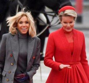 Mε Dior & Αrmani η Ματίλντ του Βελγίου, με Louis Viitton η Μακρόν & γάντι δίχρωμο (φωτό) - Κυρίως Φωτογραφία - Gallery - Video