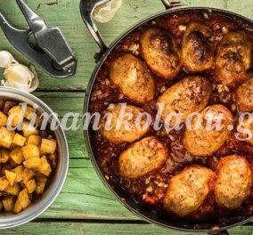 Μοσχομυριστά σουτζουκάκια κοτόπουλου με πατάτες καρέ σκορδοπαπρικάτες από την Ντίνα Νικολάου - Κυρίως Φωτογραφία - Gallery - Video