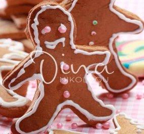 Τα Χριστουγεννιάτικα της Ντίνας Νικολάου: Μπισκότα με πετιμέζι για στολίδια - Κυρίως Φωτογραφία - Gallery - Video