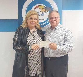 Η Κλέλια Χατζηιωάννου έδωσε €75.000 για τον ΕΝΦΙΑ του «Χαμόγελου του Παιδιού» - Ο Κώστας Γιαννόπουλος την ευχαριστεί - Κυρίως Φωτογραφία - Gallery - Video