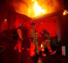 Πραγματικά η φωτό της ημέρας από την κόλαση πυρός στην Καλιφόρνια - Την ανέβασε η Μαντόνα - Κυρίως Φωτογραφία - Gallery - Video