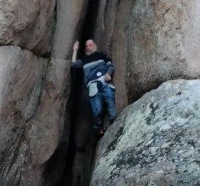 Kι΄όμως αυτός είναι ο πιο fit 70χρονος - Σκαρφαλώνει για πλάκα σε βράχους και αφήνει τους πάντες άφωνους (βίντεο) - Κυρίως Φωτογραφία - Gallery - Video
