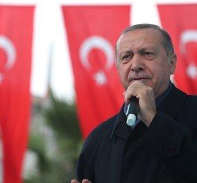 Συνεχίζει να «βρυχάται» ο Ερντογάν: «Δεν θα αφήσουμε σε κανέναν ληστή να εκμεταλλευθεί τα συμφέροντά μας στο Αιγαίο και στη Μεσόγειο» (Φωτό) - Κυρίως Φωτογραφία - Gallery - Video