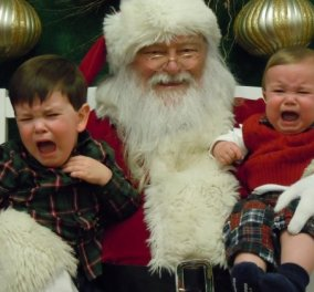 Smileeee!!! Σπαράζουν στο κλάμα αυτά τα παιδάκια με τον Αι Βασίλη - Ούτε δώρο θέλουν, ούτε φωτογραφία - Κυρίως Φωτογραφία - Gallery - Video