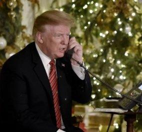 Ο Τραμπ στα... κέφια του - Δεν φαντάζεστε τι είπε σε έναν 7χρονο για τον Άγιο Βασίλη (Βίντεο) - Κυρίως Φωτογραφία - Gallery - Video