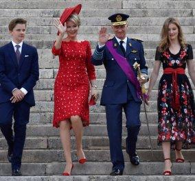 Στα κόκκινα & στα βελούδα η Βασιλική οικογένεια του Βελγίου (φωτό) - Κυρίως Φωτογραφία - Gallery - Video