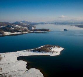 Φωτογραφίες με μαγικό ραβδί: Χιονισμένη και πανέμορφη η λίμνη Πλαστήρα στην Καρδίτσα - Κυρίως Φωτογραφία - Gallery - Video