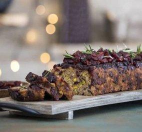 Άκης Πετρετζίκης: Χριστουγεννιάτικο κέικ με μανιτάρια- Το τέλειο ορεκτικό για το γιορτινό τραπέζι - Κυρίως Φωτογραφία - Gallery - Video