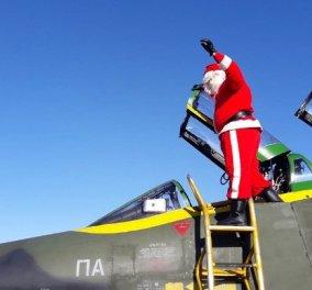 Good news: Ο Άγιος Βασίλης προσγειώθηκε με διθέσιο μαχητικό στην Λάρισα & μοίρασε δώρα - Κυρίως Φωτογραφία - Gallery - Video