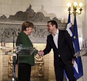 Καρέ-καρέ η συνάντηση του Αλέξη Τσίπρα με την Άνγκελα Μέρκελ στο Μέγαρο Μαξίμου (Φωτό) - Κυρίως Φωτογραφία - Gallery - Video