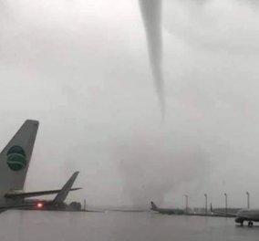 Συγκλονιστικό βίντεο: Η σοκαριστική στιγμή που ανεμοστρόβιλος χτυπά το αεροδρόμιο της Αττάλειας και αφήνει πίσω του 12 τραυματίες   - Κυρίως Φωτογραφία - Gallery - Video