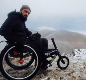 Hero of the Day: Παραπληγικός νεαρός παλικάρι ανέβηκε στην κορυφή του Όλυμπου με αναπηρικό καροτσάκι (φώτο) - Κυρίως Φωτογραφία - Gallery - Video
