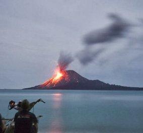 Ινδονησία: Οι εκρήξεις εξαφάνισαν το ηφαίστειο Ανάκ Κρακατόα  - Έχασε τα δύο τρίτα του ύψους του (φωτό) - Κυρίως Φωτογραφία - Gallery - Video