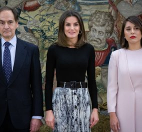 Fashion Statement από την βασίλισσα Λετίσια που δεξιώθηκε το Vogue Ισπανίας (φώτο) - Κυρίως Φωτογραφία - Gallery - Video