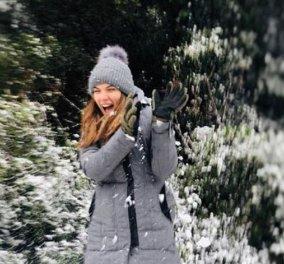 Οι περιπέτειες της Αθηνάς Οικονομάκου, της Βάσως Λασκαράκη και της Μαρίας Σολωμού στα χιόνια (Φωτό) - Κυρίως Φωτογραφία - Gallery - Video