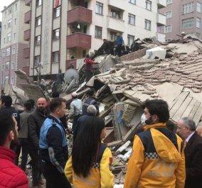 Φωτό & βίντεο από την κατάρρευση εξαώροφου κτιρίου στην Κωνσταντινούπολη - Απεγκλωβισμός 4 ατόμων - Κυρίως Φωτογραφία - Gallery - Video