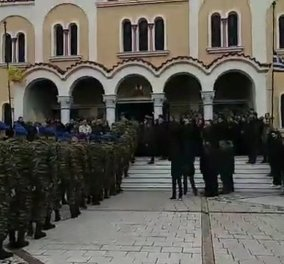 Πάτρα: Οδύνη και βουβός θρήνος στην κηδεία του  Εύζωνα Σπύρου Θωμά (φώτο-βίντεο) - Κυρίως Φωτογραφία - Gallery - Video