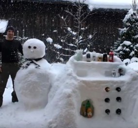 Βίντεο: Όταν ο άνθρωπος έχει φαντασία φτιάχνει ένα μπαρ από... χιόνι! - Κυρίως Φωτογραφία - Gallery - Video
