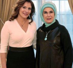Περιστέρα Μπαζιάνα - Εμινέ Ερντογάν: Tσάι για τις δύο κυρίες στο  «Λευκό Παλάτι» (φωτό) - Κυρίως Φωτογραφία - Gallery - Video