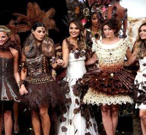 Μην τα φάτε... φορέστε τα: Ντεφιλέ με ρούχα από σοκολάτα στο Βέλγιο του Φρεντερίκ Μπλοντέελ - Κυρίως Φωτογραφία - Gallery - Video