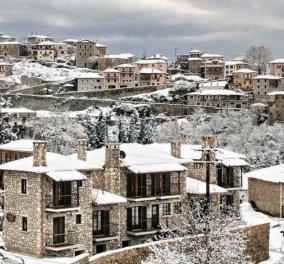 Περιήγηση από ψηλά στη χιονισμένη Δημητσάνα – Ένα βίντεο μια μαγεία - Κυρίως Φωτογραφία - Gallery - Video