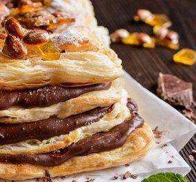 Μιλφέιγ σοκολάτας: Το κλασικό γαλλικό γλυκό που γίνεται ανάρπαστο σε κάθε τραπέζι - Κυρίως Φωτογραφία - Gallery - Video