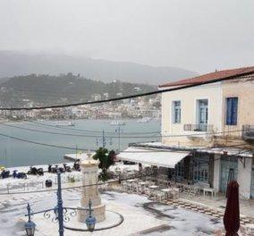 Έμοιαζε με χιόνι! Χαλαζόπτωση που δεν είχαν ξαναδεί στον Πόρο - Όλα άσπρα - Δείτε φωτό - Κυρίως Φωτογραφία - Gallery - Video