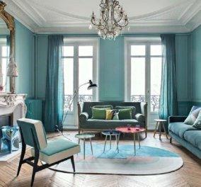 14 μπλε σαλόνια για να ομορφύνουν το living room- Στυλ μοντέρνο ή κλασσικό, αριστοκρατικό ή funky (φώτο)   - Κυρίως Φωτογραφία - Gallery - Video