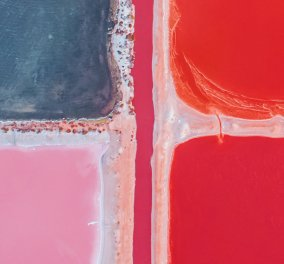Καλλιτέχνιδα φωτογράφισε μια μαγική ροζ λιμνοθάλασσα στη Δυτική Αυστραλία - Φώτο  - Κυρίως Φωτογραφία - Gallery - Video