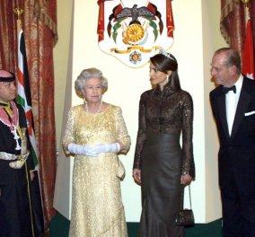 Βασιλική συνάντηση: Η Ράνια της Ιορδανίας συνάντησε τη βασίλισσα Ελισάβετ στο Λονδίνο & εντυπωσίασαν με το στυλ τους (φωτό) - Κυρίως Φωτογραφία - Gallery - Video